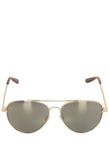BOTTEGA VENETA - AVIATOR MIRROR LENS SUNGLASSES