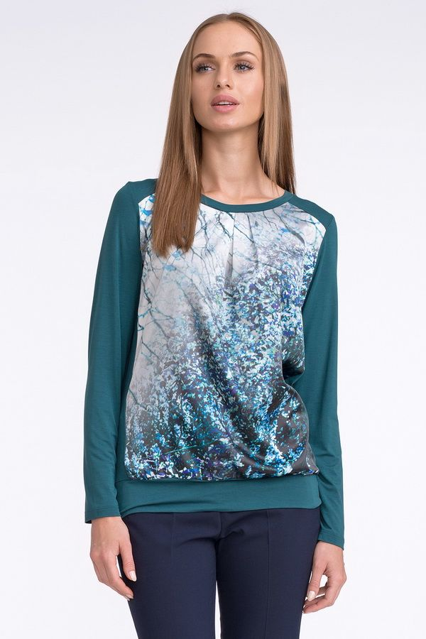 Бирюзовая блузка Sunwear U52 - Malinka-fashion.ru