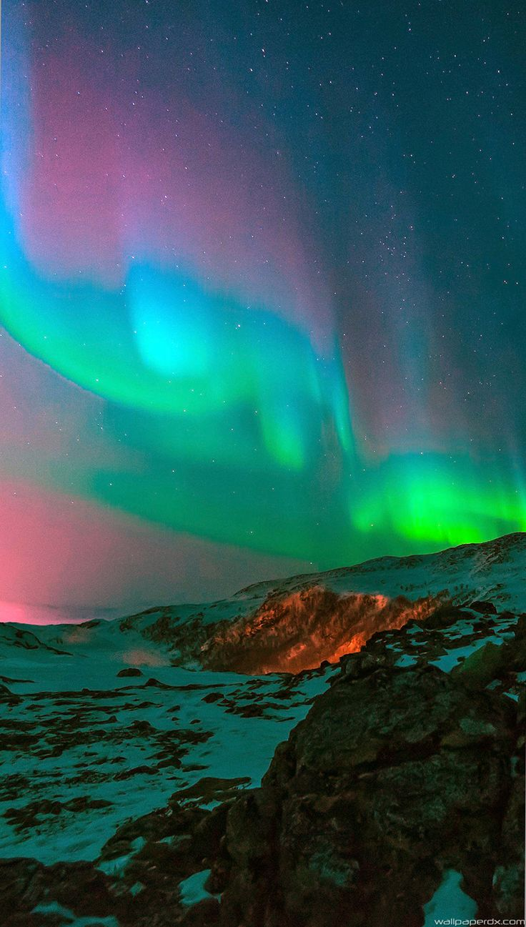 Aurora Nature Night Sky iphone 6 iphone 6 plus full_hd