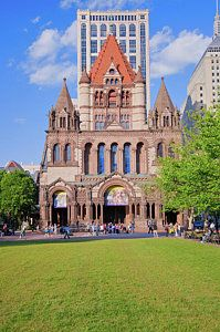 Boston Photograph - Trinity Church In Copley Square by Panoramic Images
