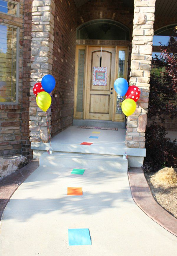 game night party ideas candyland entrance
