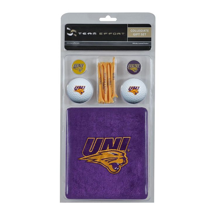 Team Effort Northern Iowa Panthers Golf Gift Set, Multicolor
