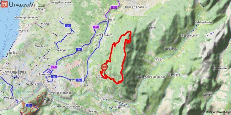 """[Haute-Savoie] Les Voirons au départ de Lucinges Au départ du centre de Lucinges. Montée par la route d'Armiaz puis par une route forestière roulante. Portion de route sur la fin pour rejoindre le monastère. Court poussage pour la """"montée impossible du Signal des Voirons"""", il faut être costaud pour le faire sur le vélo. Magnifique vue depuis la crête sur le Mont Blanc et le lac. On redescend de l'autre côté du massif des Voirons par une belle descente sur singles."""