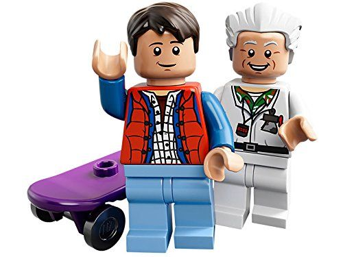 LEGO 21103 minifigures of the iconic DeLorean time machine Dr. Emmett Doc Brown and Marty McFly @ niftywarehouse.com #NiftyWarehouse #BackToTheFuture #Movie #Film #Movies #Gifts