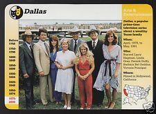 DALLAS TV Show Cast Larry Hagman Patrick Duffy GROLIER STORY OF AMERICA CARD