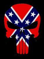 Custom Punisher Skull (Rebel Flag) by eddieduffield19