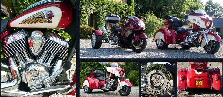 Visitors arrived for their second stay at Le Pas Cru on their Indian and Suzuki Trikes. #Luxury #Bedandbreakfast #Good-food #Romantic #fourposter #bed #accommodation #wildlife #countryside #MontSaintMichel #SaintMalo #Fougeres #Dinan #Bikers #Trike #Trikes #TrikeShop #Indian #Suzuki #Cardiff