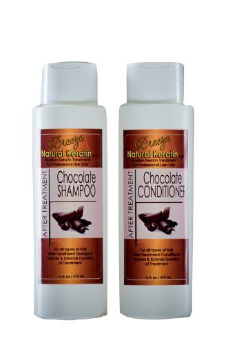 Brazilian Hair Treatment Chocolate Maintenance Kit 16 oz (Shampoo and Conditioner) and 1oz serum by Breeze Natural Keratin -- Read more details by clicking on the image. #haircare