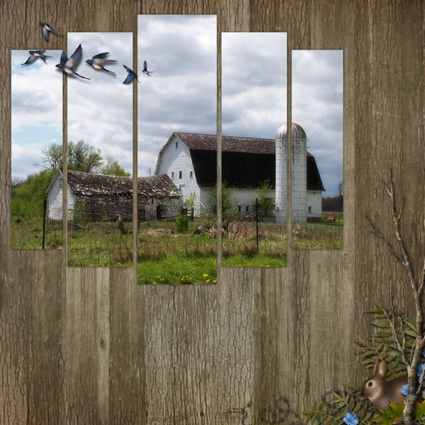 farm scrapbook page