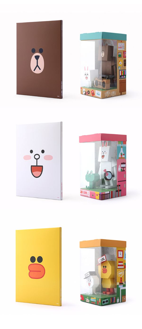 LINE FRIENDS PAPER TOY on Behance