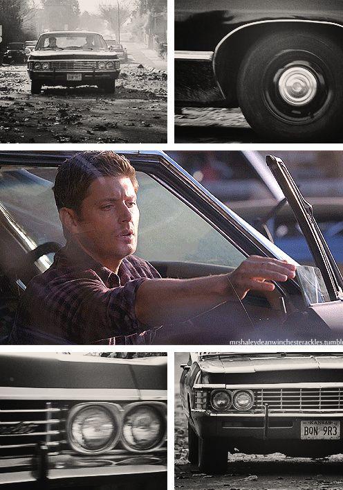 [gifset] Baby #SPN #Impala #mechanicdean