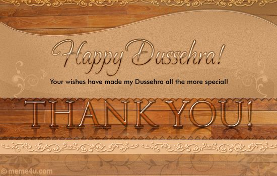 thank you card on dussehra,thank you ecard on dussehra,thank you greeting card on dussehra