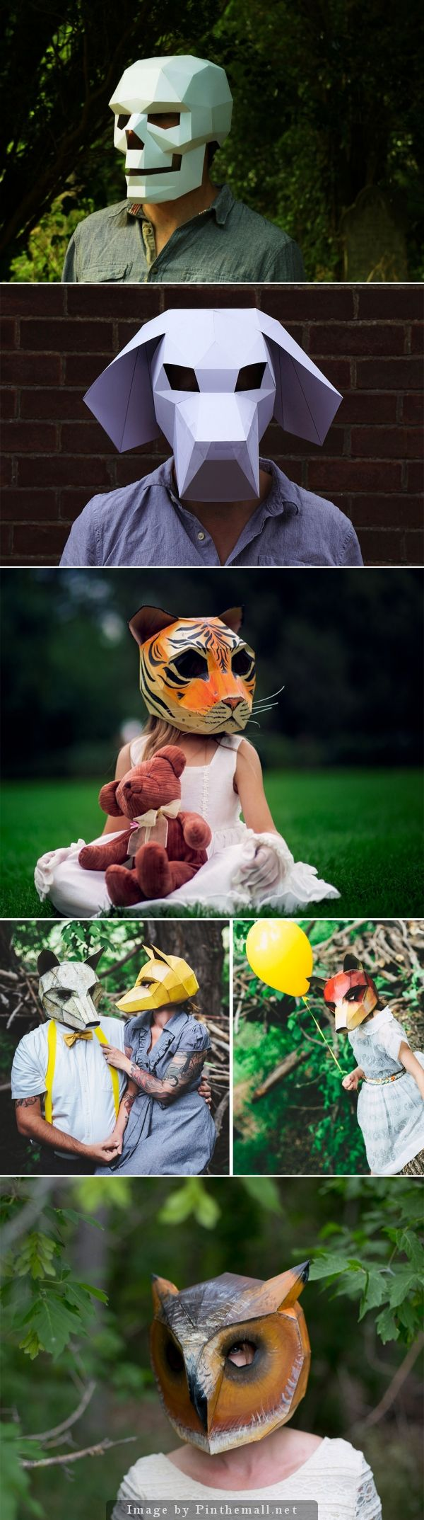 DIY Geometric Paper Masks by Steve Wintercroft by Steve Wintercroft
