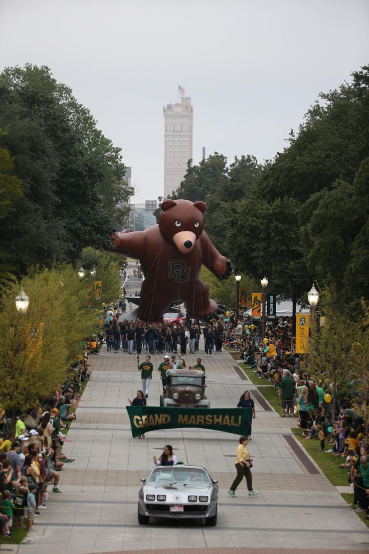 Nothing quite like the Baylor Homecoming parade -- the largest in the country!