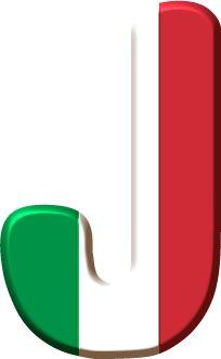 Alfabeto con Bandera de Italia.