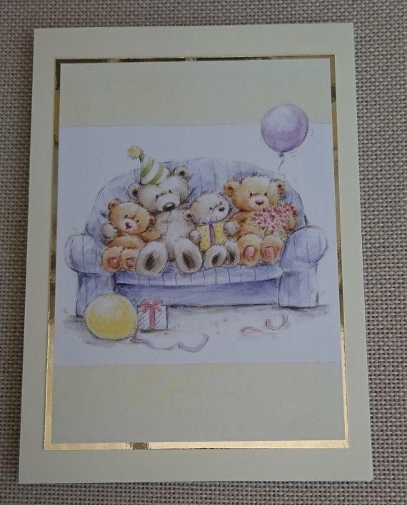 Handmade 5 x 7 Greeting Card  Birthday by BavsCrafts on Etsy