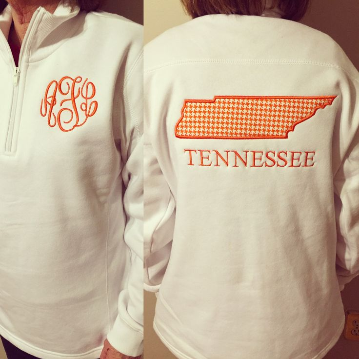 A personal favorite from my Etsy shop https://www.etsy.com/listing/227241660/monogram-pullover-with-large-tennessee