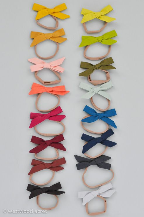 Hand Tied Infant Hair Bow Tutorial from Amanda at A Crafty Fox