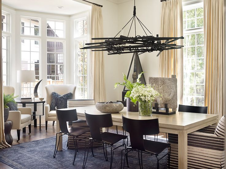 Unusual fun modern chandelier robert brown interior for Quirky dining room ideas