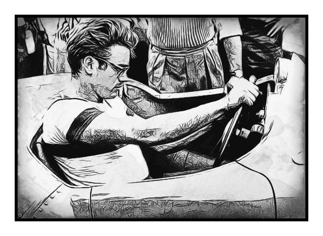 James Dean: Art That Makes Your Brain Happy!    An Art Work of Classic Movie James Dean by Dan Newburn of the Morgan-Newburn Foundation for the Arts, Las Vegas, Nevada.