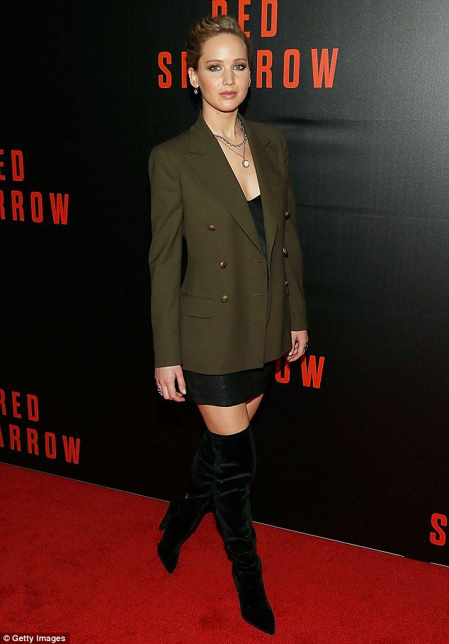 Always fashionable! On Thursday Jennifer Lawrence once again demonstrated her unique sartorial style as she attended a screening for her new movie Red Sparrow in Washington, D.C.