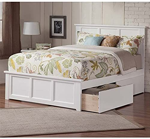 Buy Leo Lacey Urban Queen Storage Platform Bed White Online In