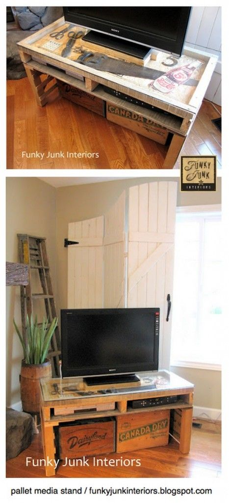 DIY New TV Stand Made From a Pallet