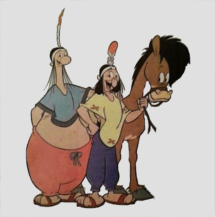 Patoruzú, su hermano Upa y su fiel caballo Pampero. http://www.desvandebuenosaires.net/humor-patoruzu/