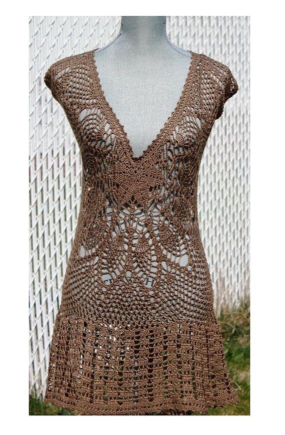 projeto 1 - vestido marrom