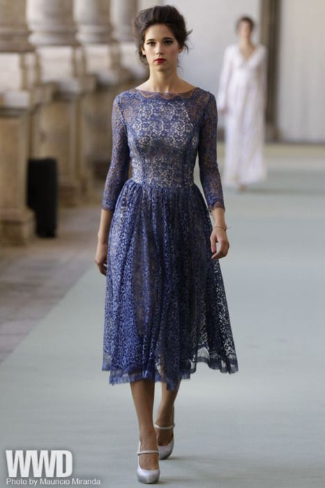 thatkindofwoman:    womensweardaily:    Spring 2012 Trend: Domestic Bliss  Remember when the lady of the house was always polished, elegant and oh-so-chic? She's back.  Luisa Beccaria RTW Spring 2012    I would wear this.: Luisa Beccaria, Blue Lace, Spring 2012, Rtw Spring, Beccaria Rtw