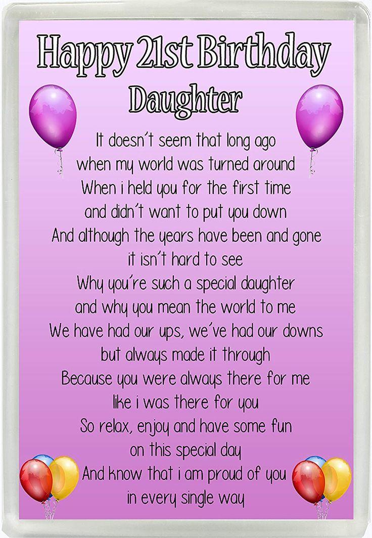 Happy 21st Birthday Daughter Poem Jumbo Fridge