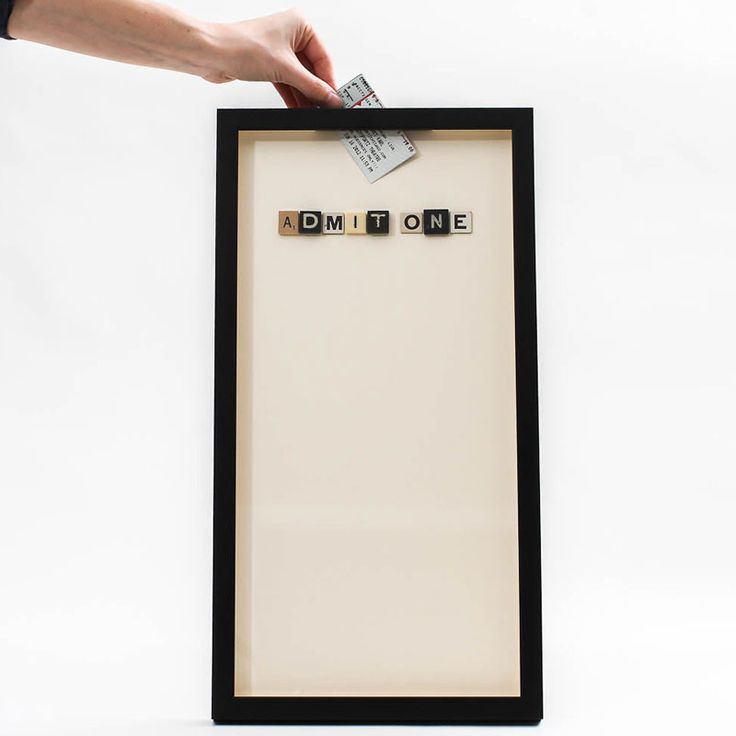 Shadow Box for movie/concert ticket stubs