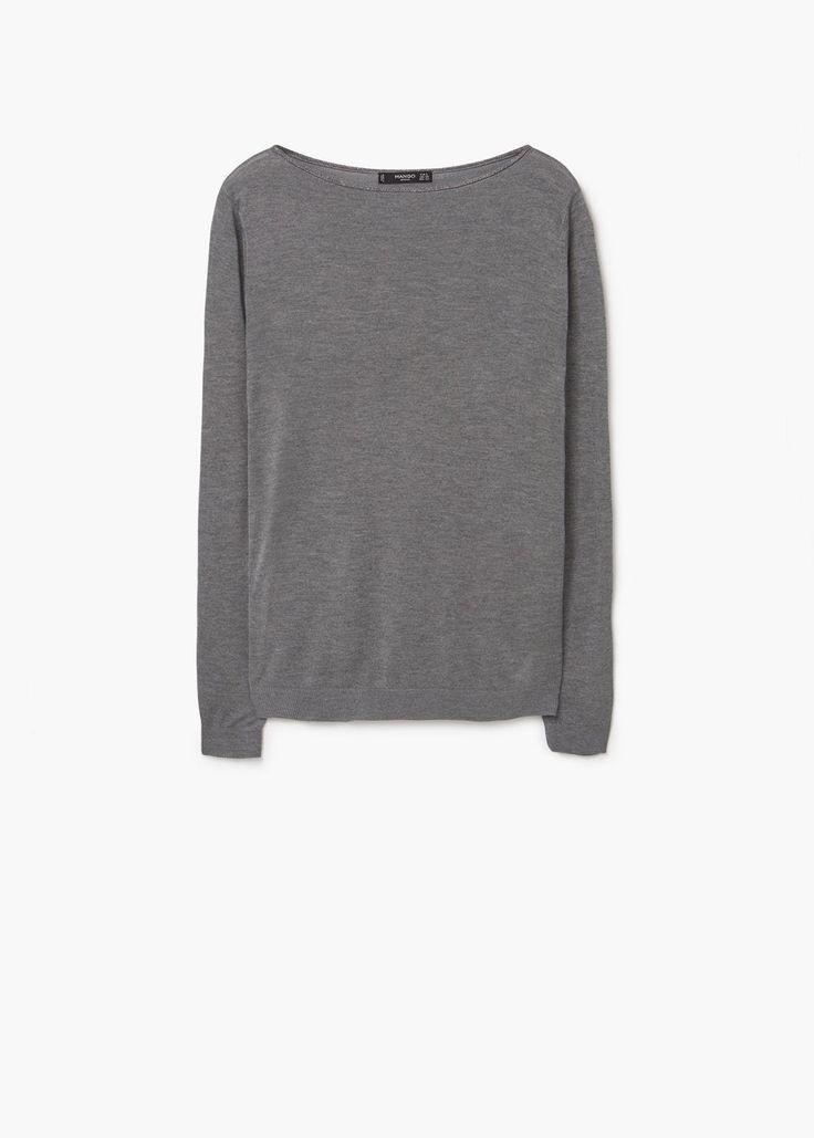 Contrast trim sweater | MANGO