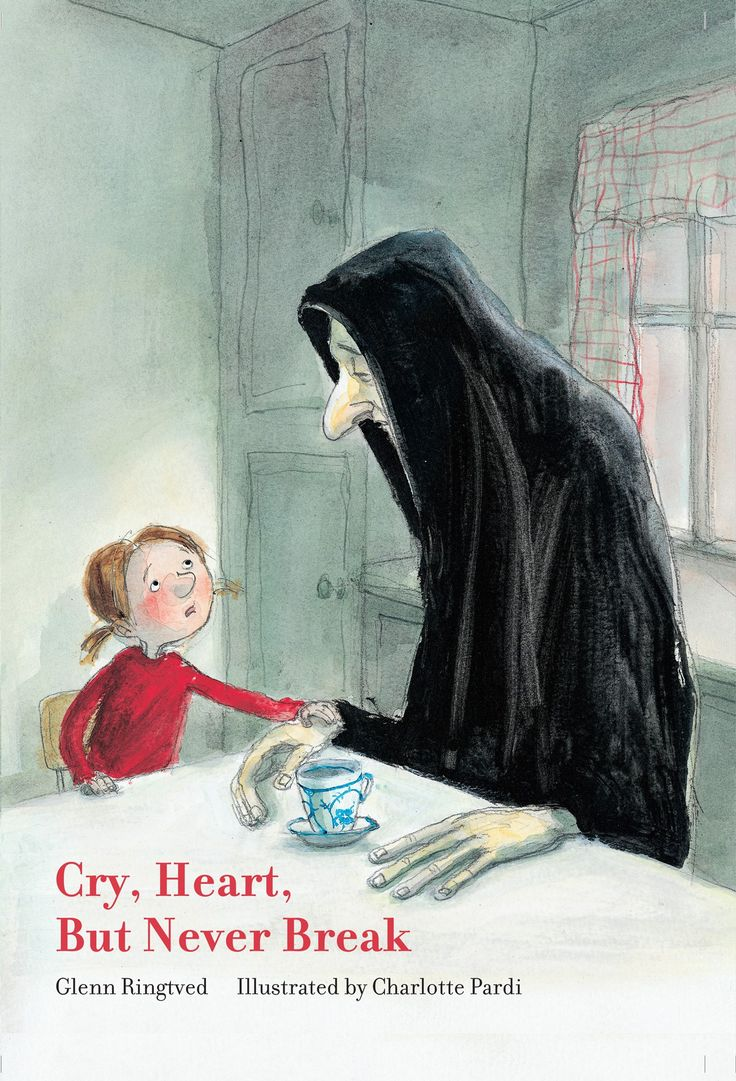 """A fine addition to the most intelligent and imaginative children's books about making sense of death — the crowning jewel of them all, even, and not only because it bears what might be the most beautiful children's book title ever: """"Cry, Heart, But Never Break""""by beloved Danish children's book author Glenn Ringtved and illustrator Charlotte Pardi."""