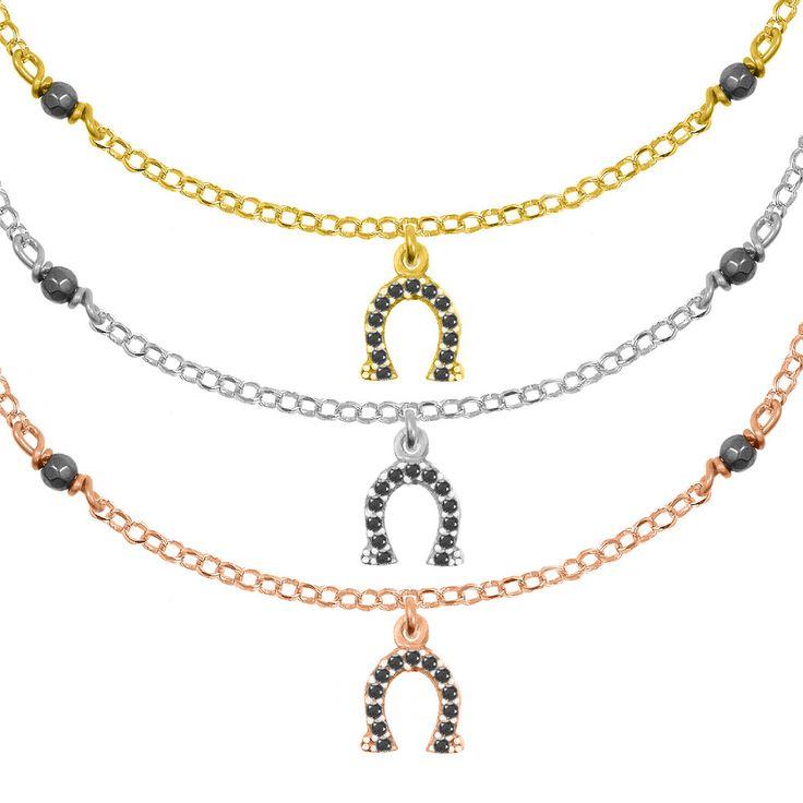 Horseshoe Bracelet Sterling Silver 925,Rose Gold Bracelet,Yellow Gold Bracelet,Tiny Horseshoe,Birthday Gifts for Her,Lucky Charm Bracelet by AmorAmorSilver on Etsy