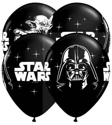 10 Star Wars Balloons Black Birthday Party by Truetreasures55