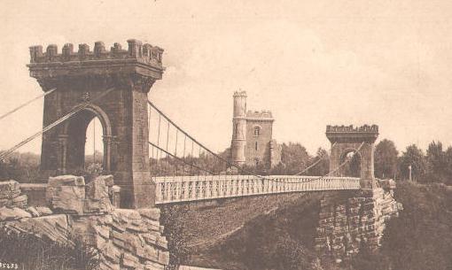 Craiova - Parcul Bibescu si Podul suspendat - interbelica