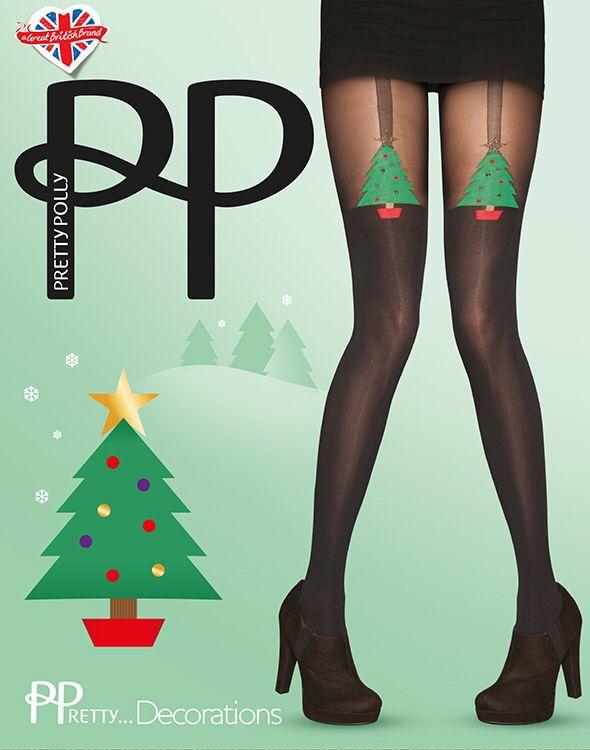De allerleukste kerst panty van Pretty Polly de Pretty ...Decorations verkrijgbaar bij www.sexychic.nl