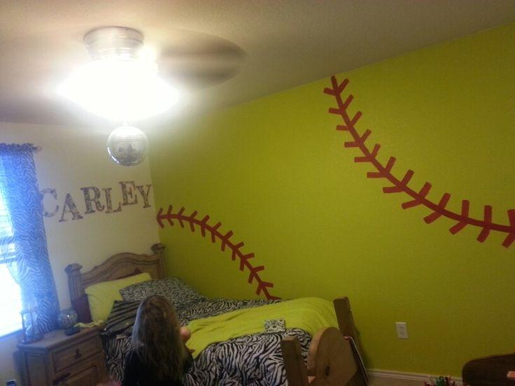 Softball painted wall
