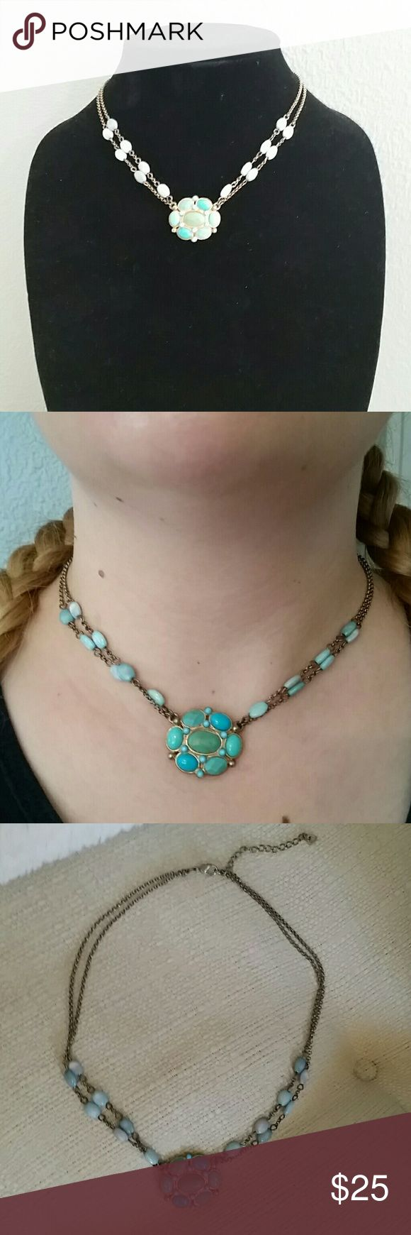 Amazing Turquoise Choker. Turquoise Adjustable Choker. So Chic and Stylish. LC Jewelry Necklaces