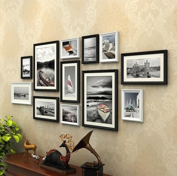 Wood 12 Pieces Photo Collage Frames In 2020 Frame Wall Collage Collage Frames Picture Frame Crafts
