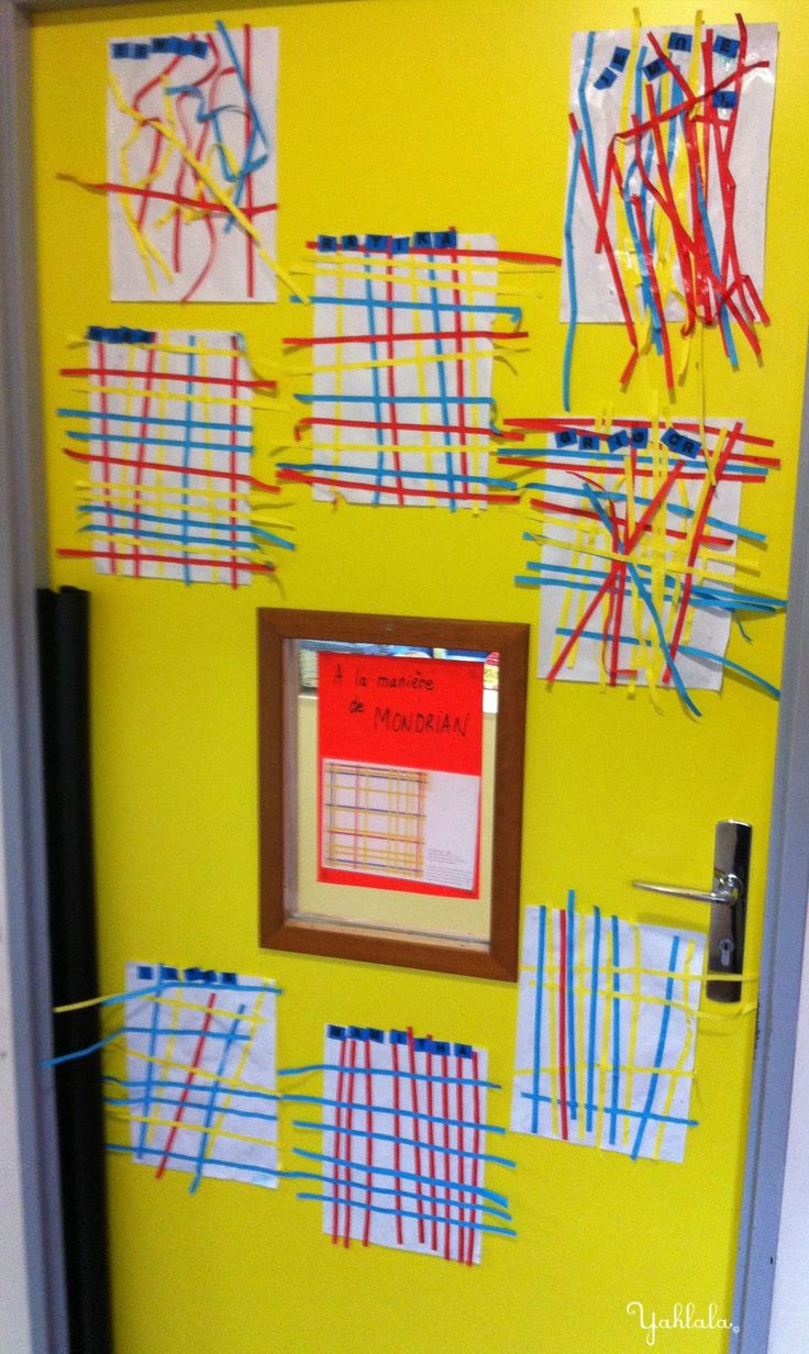 Des lignes ... selon Mondrian