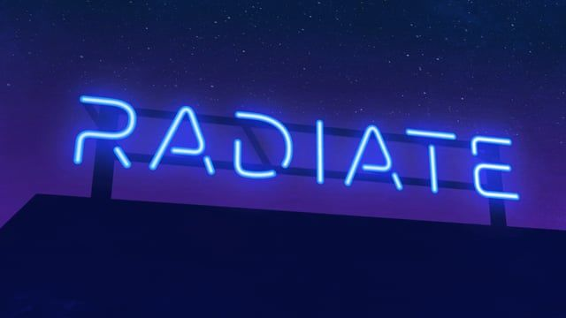 Radiate is an 80's inspired neon sign typeface. Each glyph is made from one continuous line with glowing and darkened segments. Handy sliders give you complete control over color, line width, glow, flicker and speed.  Radiate is available for Adobe After Effects CS5 and up at animography.net/products/radiate  Design & Animation: Chloe Stein Music: Clean Cuts Music Library