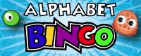 Play alphabet BINGO with lower/upper case, letter names or letter sounds. Free online game.