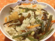 炊飯器で簡単!山菜おこわの画像