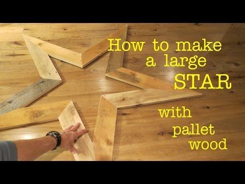 How to Make ● a STAR from Scrap Wood Pallet - YouTube