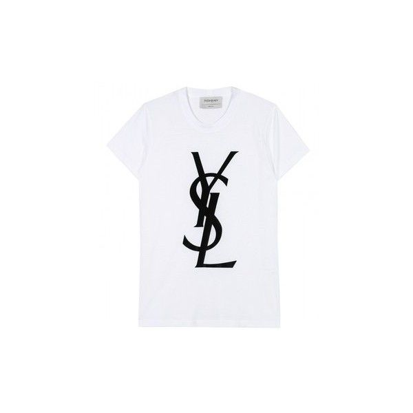Men's Fashion Flash: Soulja Boy's Versace Shopping Trip YSL Logo... ❤ liked on Polyvore featuring tops, t-shirts, shirts and tees