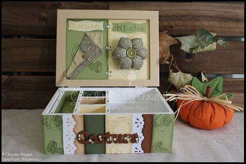 "Caixa de costura ""Dark Green Autumn"""