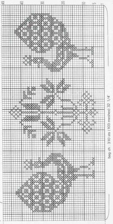 213 best images about filet lace animales on pinterest - Chemin de table filet de peche ...