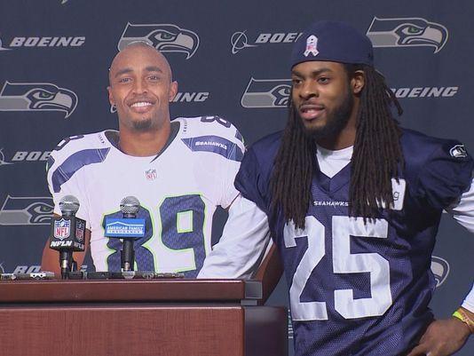 VIDEO: Richard Sherman, Doug Baldwin skit interview mocking NFL policies on point